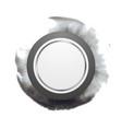 Grey circle shape on dark watercolor splash vector image