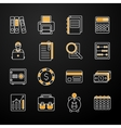 Accauntant Linear Flat Icon Set vector image