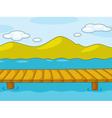 Empty pier vector image