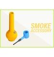 smoke accessories 3d vector image