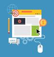 Blog management blogging concept Flat design vector image