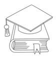 cartoon image of book icon education symbol vector image