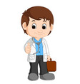 cute doctor cartoon vector image