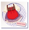 Dress for girls vector image