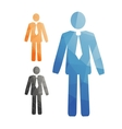 set of stylized man in a tie office workers vector image