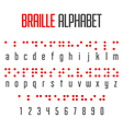 Braille alphabet and numbers vector image vector image