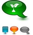 Ecology speech comic icons vector image