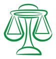 zodiac sign libra logo vector image vector image