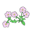 Comic cartoon flowers vector image