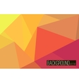 Abstract rumpled triangular background low poly vector image
