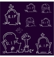 Halloween tomb doodle art vector image
