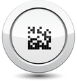 Button with qr code vector image