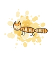 Child s drawn colorful cat vector image