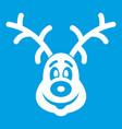 christmas deer icon white vector image