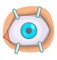 Eye procedure icon cartoon style vector image
