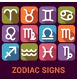 icon set of Zodiac Signs in flat style vector image