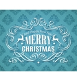 Merry Christmas vintage typographic label vector image