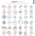 Party disco ultra modern outline line icons vector image