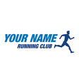 running club vector image
