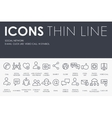 Social Network Thin Line Icons vector image
