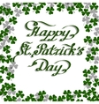 St Patricks Day greeting card vector image