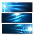 star space banner set vector image