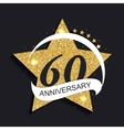 Template Logo 60 Anniversary vector image