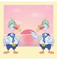 Goose diver on the beach vector image vector image
