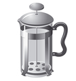 french press teapot vector image
