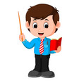 cartoon male teacher vector image