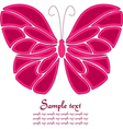 Pink and white butterfly background vector image vector image