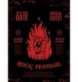 Grunge rock festival poster vector image