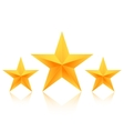 Set of Gold Stars Icon Best Rating Gold vector image