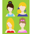 Set of female avatar or pictogram for social vector image