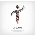 diplomat people symbol vector image