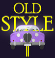 classic car poster vector image