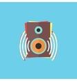 colorful audio speaker icon vector image