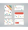corporate identity business kit with cd dvd vector image