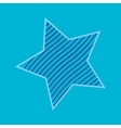 One star with strips sign pattern vector image