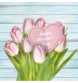 Pink flowers for mothers day EPS 10 vector image