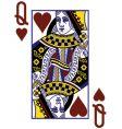 queenof hearts vector image