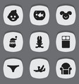 set of 9 editable family icons includes symbols vector image