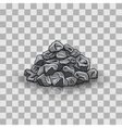 Stone pile vector image