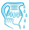 zodiac sign aquarius logo vector image