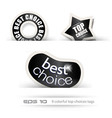 Paper Style BEST CHOICE tags vector image vector image