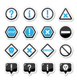 Computer system icons - warning danger vector image
