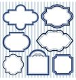 set of design frames vector image vector image