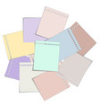 stack paper note vector image vector image