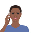 woman talking on the mobile phone vector image