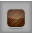 wooden button vector image vector image